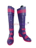Wholesale Japanese Christmas Costume Girl - LOL Miss Unfortune Girls Purple Halloween Christmas Party Cosplay Shoes Boots X002