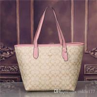 Wholesale brand named leather shoulder bags resale online - 2018 styles Handbag Famous Designer Brand Name Fashion Leather Handbags Women Tote Shoulder Bags Lady Leather Handbags Bags purse1809