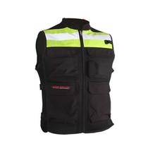 Wholesale reflective motorcycle vest resale online - Black Hi Vis Reflective Motorcycle Vest Motorbike Waistcoat Commuter Bike Jacket Safety Racing Uniform cycle clothing