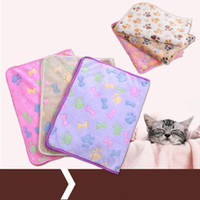 Wholesale Hutch Cage - Coralline Pets Blankets Kennel Pad Soft Dog Cat Warm Paw Print Small Pet Blanket Bed Mat Small Pet Supplies 2 5xw3 X