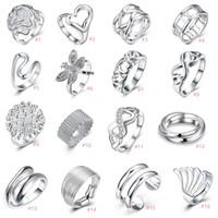 925 silberne unendlich vernickelt großhandel-925 Sterling Silber Überzogene Ringe Öffnen Größe Unendlichkeit Herz Multi Charms Ringe Größe 78 Edlen Schmuck für Frauen Mädchen