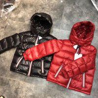 куртки для девочек оптовых-Новое поступление люксовый бренд мальчиков зимний пуховик для девочек белый пух парки 90% пуховик ультралегкие большие детские пальто мальчиков девочек одежда