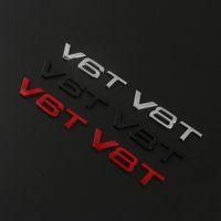 Wholesale Audi Metal Stickers - Suit For Audi Car Styling 3D Metal V6T V8T V6 V8 T W12 W 12 Engine Displacement Emblem Tail Trunk Fender Badge Sticker