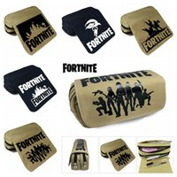 Wholesale office tables - 5 design wallet Fortnite Pencil Bag Cartoon Pencil Cases Stationery Storage Bag School Office outdoor bags Kids Gift Purse MMA335