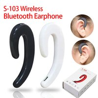 Wholesale invisible ear bluetooth headphones for sale - Group buy S103 ear hook for iphone samsung Bluetooth headset Headphones Mini invisible Bone conduction Earphone Wireless Sports bluetooth4 Headset