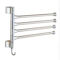 barres à serviettes de toilette achat en gros de-Porte-serviettes en acier inoxydable multi bras serviette suspendue avec crochets salle de bain porte-serviettes barres mobiles produits de salle de bains