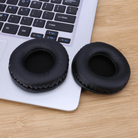 écouteurs de piste achat en gros de-1 paire de coussinets d'oreille en cuir de remplacement de protéines pour SOL Republic V8 V10 voies sur l'oreille des écouteurs fabriqués à la main coussin d'oreille