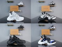 Wholesale dropship discount - 2018 Discount Men Women Brand arch light sneaker Leather trainers Kanye West Running shoes fashion Casual outdoor boots dropship