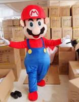 mario trajes mascotes venda por atacado-Hot New Alta qualidade EVA Material Capacete Rapid Personalização Mario Mascot Costumes Unisex dos desenhos animados Vestuário 037