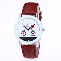 магазин часов оптовых-Мода любовь корзина шаблон Белый сплав циферблат 20 мм коричневый кожаный ремешок дамы пара простой кварцевые часы женские часы C407