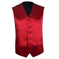 Wholesale Wholesale Men S Waistcoats - Mens Wedding Waistcoat Groom (Purple red S UK 36)