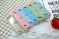 Wholesale apple board - Original silicone shell full board for Iphone 6 7 plus soft touch feel case for iphone.