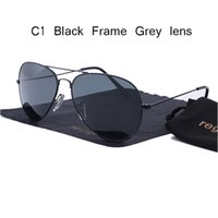 1f12cd7e64 Lente de cristal de la venda de lujo gafas de sol de piloto mujeres Hombres  2018 gafas de sol de conducción 58 mm 3025 Lentes de color rayos uv400 azul  ...