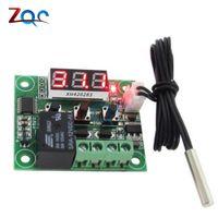 interruptor digital do termostato do controlador de temperatura venda por atacado-W1209 LED Termostato Digital de Controle de Temperatura Termômetro Controlador Thermo Módulo Interruptor DC 12 V À Prova D 'Água NTC Sensor