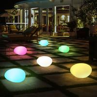 ingrosso giardinaggio ciottoli pietre-La nuova luce di notte di arrivo Lamp Pebble Lawn Luci del giardino Impermeabile LED Simulazione Pietra Grass Lights Drop Shipping