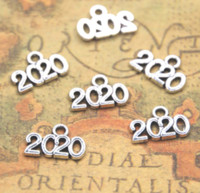 ingrosso anno dei gioielli-50 pz / lotto Anno 2020 Pendenti in argento con pendenti per ciondoli Forniture fai-da-te Creazione di gioielli 9x14mm