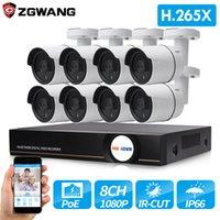 nvr poe sicherheitssystem großhandel-ZGWANG 8CH 1080P H.265 8CH CCTV-Überwachungskit 2MP Überwachungskamera-System POE NVR IP-Kamera CCTV-Set Home Security System