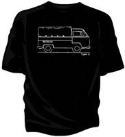 ingrosso finestra del bus-VW Bus Bay Window Cabina singola con t-shirt in tela.
