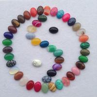 ingrosso artigianato di pietra di giada-Natural Stripe Agata Jade Jewelry Pendant Ellipse Pietra semi preziosa Arti e Mestieri Multi Color Nuovo Arriva 1 5wu CB