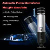 özgür erkek masturbators toptan satış-Otomatik Erkek Masturbators, Leten Piston Geri Çekilebilir Mastürbasyon Kupası Şarj Edilebilir Hands-Free Mastürbasyon Makinesi Seks Oyuncakları Adam için