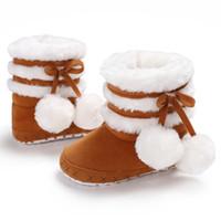 bottes de neige élégantes achat en gros de-Vente chaude nouveau-né bébé garçon fille bottes chaudes neige chaussures hiver Prewalker infantile mi-mollet bottes chaussures élégantes nouveau