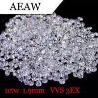 ingrosso perline diamanti sciolti-AEAW 1.9mm Totale 1 CTW carati DF Colore certificato Lab Grown Moissanite Diamond Allentato Bead Test Positivo Fine Jewelry