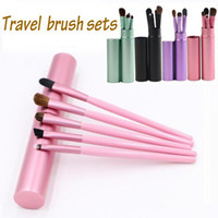 Wholesale purple lip for sale - Group buy Hot Travel Portable Mini Eye Makeup Brushes Set for Eyeshadow Eyeliner Eyebrow Lip brues Make Up Brushes kit Professional tools