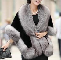 Wholesale Black Mink Vest - Fur Faux Fur 2017 autumn winter women's new imitation shawl cloak mink hair short paragraph thick warm waistcoat jacket