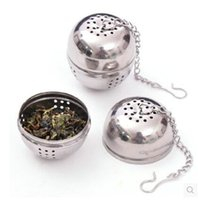 teekanne edelstahlfilter großhandel-Edelstahl Tee Sieb EGG Eintopf Suppe Hot Pot 4 cm mit 8,5 cm Kette Tee Infuser Filters Filter Intervall Diffusor Tee Küche Werkzeuge