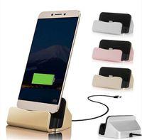 iphone desktop-ladegerät wiege großhandel-Schnellladegerät USB Desktop Cradle Ladestation Sync für Iphone X 8 7 Plus Typle c Für SAMSUNG GALAXY S8 Hinweis Einkaufstasche