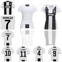 Wholesale youth ronaldo jerseys - Women Kids Soccer 7 RONALDO Juventus Jerseys HIGUAIN 10 DYBALA 17 MANDZUKIC Cristiano Football Shirt Kits Man Woman Youth Size S to XXL