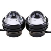 lampes au plomb achat en gros de-Super Bright Lead 10W DRL Eagle Eye Daytime Running Light 40 MM LED voiture travail lumières Source lampe de stationnement étanche