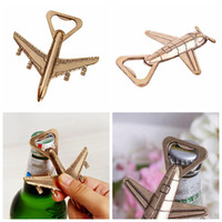 Wholesale airplane antiques - Airplane Shape Beer Bottle Opener Antique Wedding Kitchen Party Bottle Opener Aluminum Alloy Beer Openers Supplies Gift OOA4894