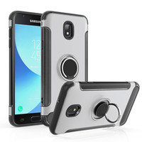Wholesale cellphone car case online – For Samsung Galaxy J7 J3 Ring Car Phone Holder Kickstand Case Magnetic Cellphone Cover For J7 j3 With OPPBAG