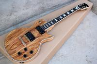 ingrosso corpo trasparente della chitarra-Vendita calda chitarra elettrica corpo solido Negozio personalizzato Les Map pannello trasparente marrone Paul Electric Guitar 6 corde