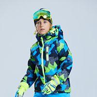 niños bebés chaquetas impermeables al por mayor-Chaquetas para niños al aire libre de 2018 nuevas marcas grandes para niños, niñas, engrosamiento de chaquetas de esquí, abrigo impermeable con capucha para bebés