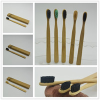 Wholesale manual brushes - Bamboo Toothbrushes Nylon Bristles Manual Toothbrushes Tooth Brush Disposable Toothbrushes Made in China With Retail Box