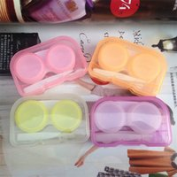 Wholesale toy carry case - Plastic Contact Lens Box With Tweezers And Sors Soak Storage Case Easy To Carry Organizer Multi Colors 0 78cj ZB