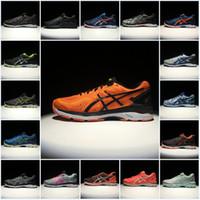 Wholesale mens gym tops - 2018 Asics Originals Mens Gel-Kayano 23 T646N Top Running Shoes Orange Gray Green Blue Black Basketball Shoes Sport Sneakers