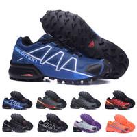 качественная обувь со скидкой оптовых-2018 Salomon Speedcross 4 Trail Runner лучшее качество мужская женская скидка спортивная обувь Мода кроссовки открытый обувь Бесплатная доставка
