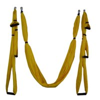 Wholesale yoga swing for sale - Group buy 16 colors Inversion Trapeze Anti Gravity Aerial Traction Yoga Gym strap yoga Swing Set Strength Decompression Hammock