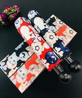 кошачьи зонтики оптовых-Новый Emoj модная кошка с рисунком Umbrella Classic Женская автоматическая Luxury Vintage логотип Зонт для дождя или солнечная подарочная коробка (Анита)