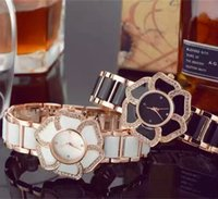 Discount white ceramic rose gold watches women - Brand 2018 Ladies Imitation Ceramic Watch Luxury Rose Gold Bracelet Watches with stainless steel Strap Women Dress Watch Female