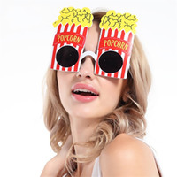Wholesale Popcorn Supplies Wholesale - Funny Spectacles Party Gift Supplies Decoration Ball Photograph Prop Eyeglass Creative Popcorn Modelling Glasses Free Shipping 8 5sf V