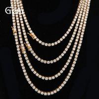 Wholesale cut diamond necklace - 4mm Round Cut Iced Out Cubic Clasp Necklace Women Men Hiphop Top Quality CZ Box Clasp Necklace Women Men Jewelry #HPO131