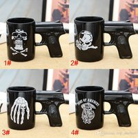Wholesale Guns Coffee - 2017 New Pistol Grip Coffee Cups Mug Funny Gun Mug Milk Tea Cup Creative Office Ceramic Coffee Mug Drinkware XL-315