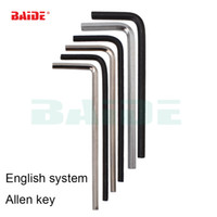 Wholesale allen key wrench - British system 1 16 5 64 3 32 7 64 1 8 9 64 5 32 3 16 7 32 1 4 Inch Hex Key Repair Tool Hand Tool Allen Wrench 200pcs lot