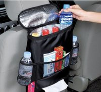 Wholesale Gadget Bags - Wholesales Black Auto Car Cooler Bag Seat Back Bag Blanket Cloth Multi-Pocket Storage Bag Travel Gadgets Closet Organizer Designer Bags