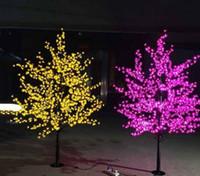 kirschblütenbaum führte lichter großhandel-Künstliche LED Cherry Blossom Tree Nacht Licht Neujahr Weihnachten Hochzeit Dekoration Lichter 1.5M ~ 3M LED Baum Licht Hochzeit Dekoration