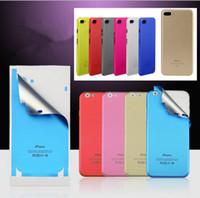 cor da tampa da tela do iphone venda por atacado-Para iphone x chinês vermelho protetor de tela mudança colorida cor de volta pega pele protetor de tela case capa para iphone 5 6 6 s 7 8 plus